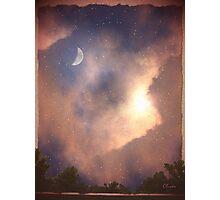 The Moon, Stars, Sun and Earth Photographic Print