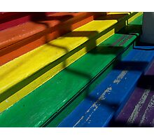 Rainbow Stairs Photographic Print
