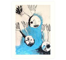 night men without bodies Art Print