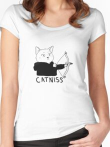 Catniss of District 12 Women's Fitted Scoop T-Shirt