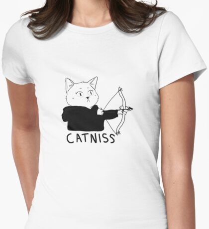 Catniss of District 12 Womens Fitted T-Shirt