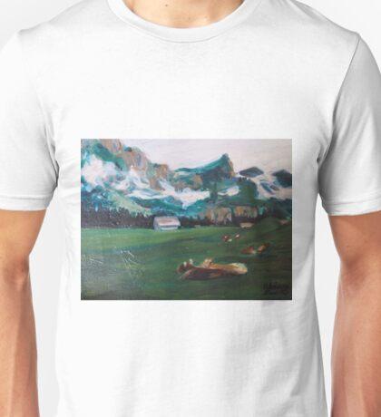 Engelberg Happy Swiss Cows  Unisex T-Shirt