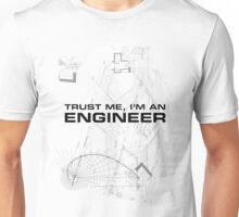 Trust Me I'm an Engineer Blueprint Sketch Unisex T-Shirt