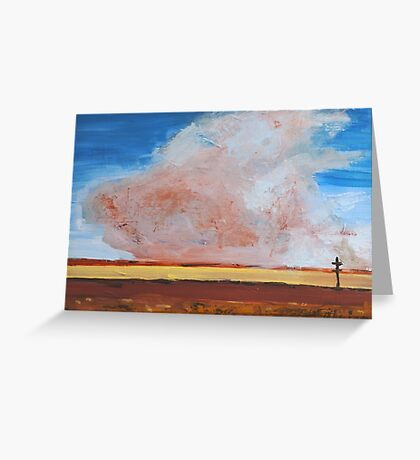 Dust Cloud West Texas  Greeting Card