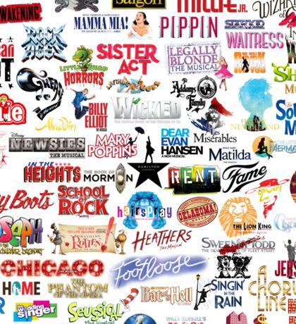 Musical Theatre Greats Sticker