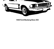 1969 Ford Mustang Boss 302 (with text) by garts
