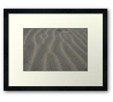 Ripples in the sand Framed Print