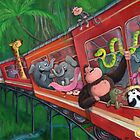 Animal Jungle Train by colonelle