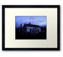 Evening Spell On Old Wood Framed Print