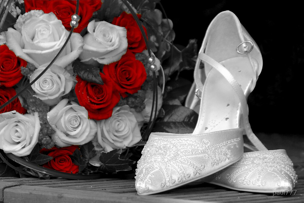 wedding bouquet and bride shoes by paul777