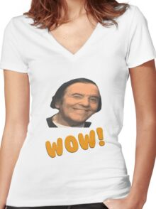 Eddy wally WOW! Women's Fitted V-Neck T-Shirt