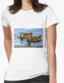 Couple of mallards Womens Fitted T-Shirt
