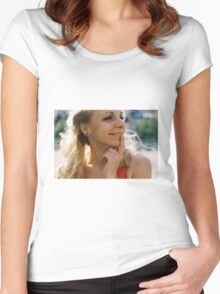 Pink Femininity 2 Women's Fitted Scoop T-Shirt