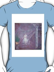 lady with rose  on castle stairs T-Shirt