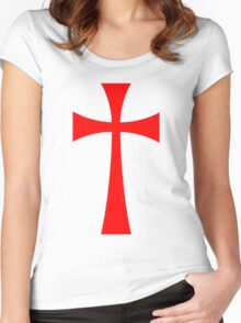 Long Cross - Knights Templar - Holy Grail - The Crusades Women's Fitted Scoop T-Shirt