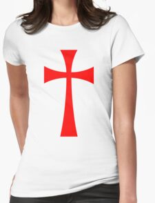 Long Cross - Knights Templar - Holy Grail - The Crusades Womens Fitted T-Shirt