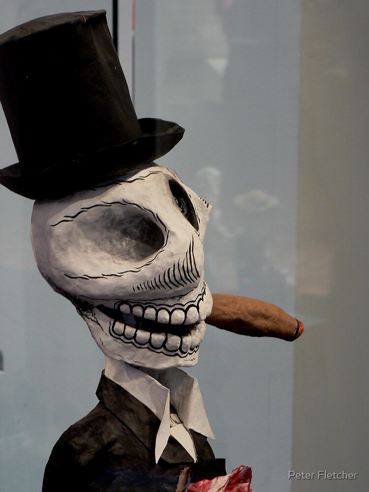 smoking calavera by Peter Fletcher