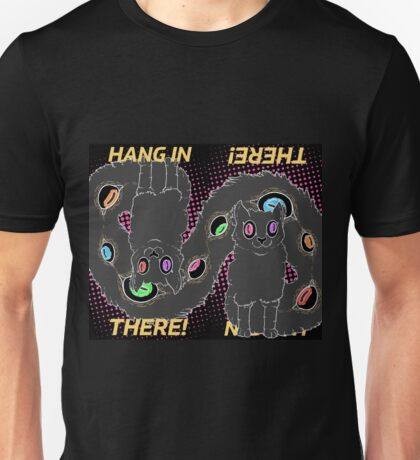 Hang In There! (Double Cat Version) Unisex T-Shirt