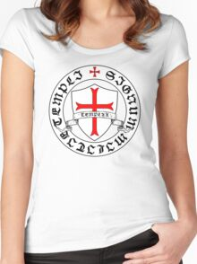 Knights Templar 12th Century Seal - Holy Grail - templars - crusades Women's Fitted Scoop T-Shirt