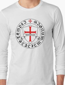 Knights Templar 12th Century Seal - Holy Grail - templars - crusades Long Sleeve T-Shirt