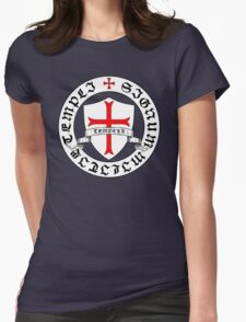 Knights Templar 12th Century Seal - Holy Grail - templars - crusades Womens Fitted T-Shirt