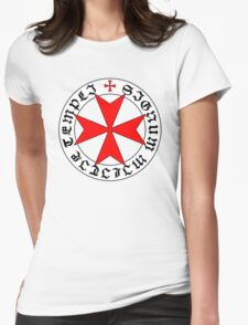 Knights Templar 12th Century Seal - Holy Grail - templars - crusades - V2 Womens Fitted T-Shirt