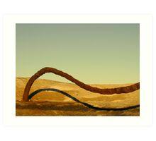 Dune Surfer Art Print