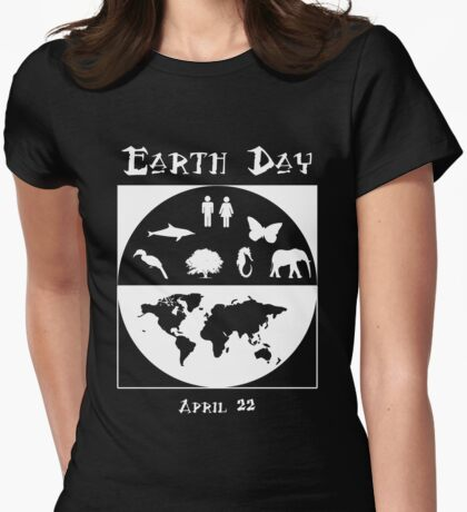 Earth Day 3 Womens Fitted T-Shirt