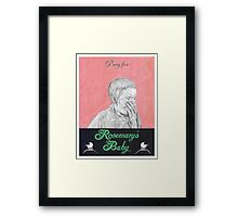 ROSEMARYS BABY hand drawn movie poster in pencil Framed Print
