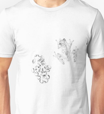 glass frog and eggs dotted artwork Unisex T-Shirt
