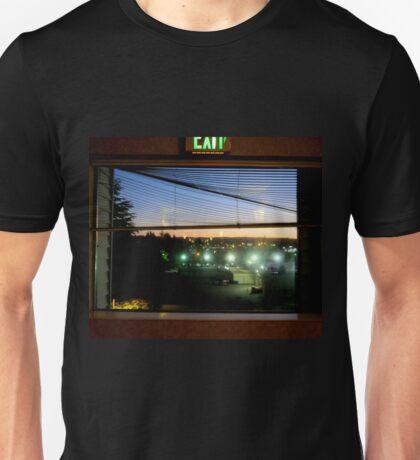 Through The Motel Hallway Window Unisex T-Shirt