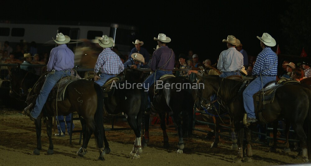 Cowboys in waiting by Aubrey  Bergman