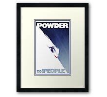 Powder to the People Framed Print