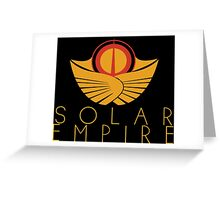 The Solar Empire Crest Greeting Card