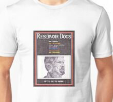 RESERVOIR DOGS hand drawn movie poster in pencil Unisex T-Shirt