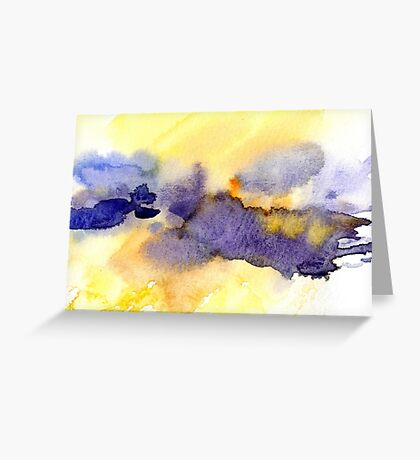 Abstract watercolor painting. Greeting Card