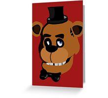 Five Nights At Freddy's Freddy Fazbear Greeting Card