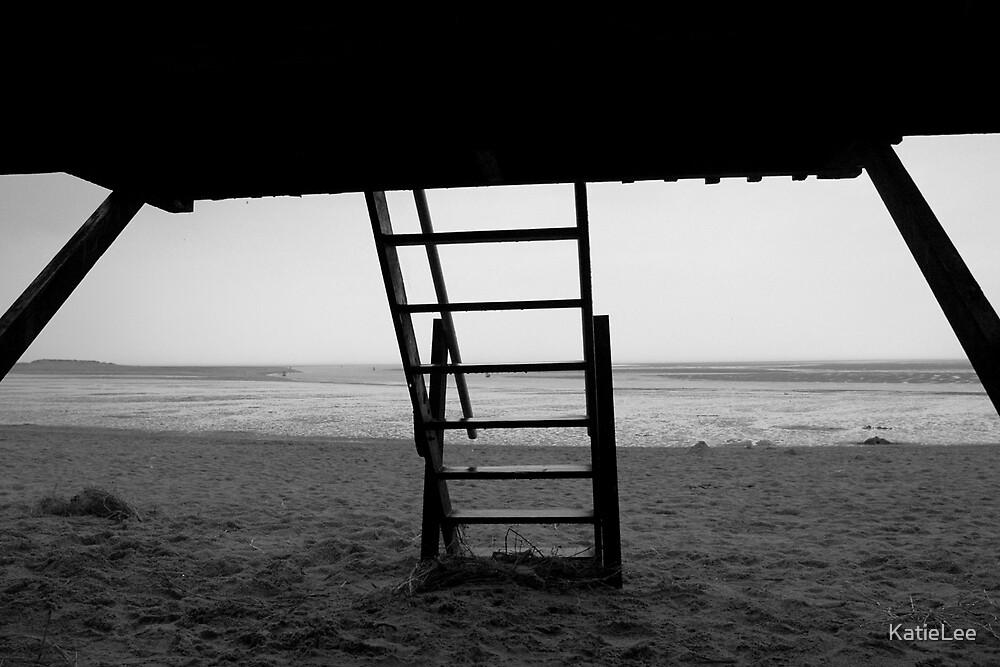Under a bech hut by KatieLee