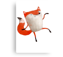 Happy Dancing Fox Canvas Print