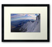 Moonlight Ridge Panorama, Mount Buller Framed Print
