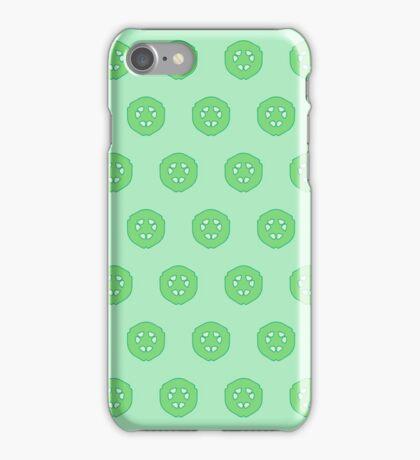 Green Cucumber Slices iPhone Case/Skin