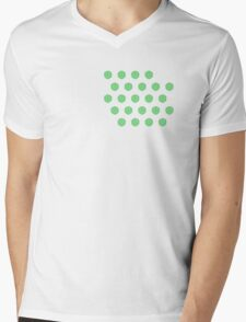 Green Cucumber Slices Mens V-Neck T-Shirt