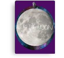 Walk the moon to space  Canvas Print