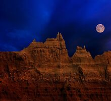 Blue Moon over Badlands National Park by Alex Preiss
