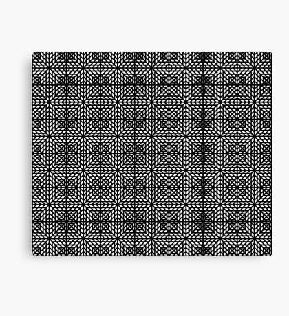 Hypnotic Black and White Mosaic Canvas Print