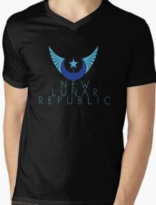 New Lunar Republic Crest Mens V-Neck T-Shirt