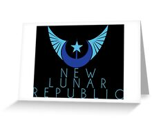 New Lunar Republic Crest Greeting Card