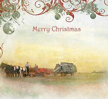 """Amish Scene """"Merry Christmas"""" ~ Greeting Card by Susan Werby"""