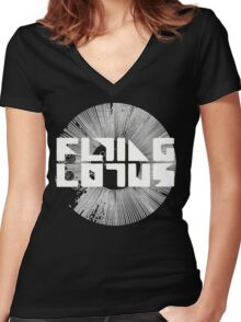 Flying Lotus Cosmo Women's Fitted V-Neck T-Shirt