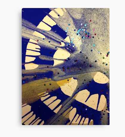Spin Art Paint and Glitter Abstract Canvas Print